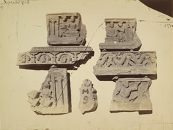 Miscellaneous Buddhist sculpture fragments from the monastery at Mian Khan, Peshawar District